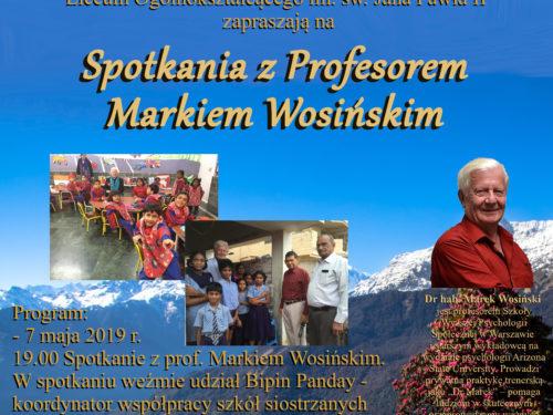 Spotkanie z prof. Markiem Wosińskim