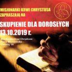 Misjonarki Krwi Chrystusa zapraszają na Skupienie dla Dorosłych