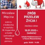 18 stycznia zbiórka krwi