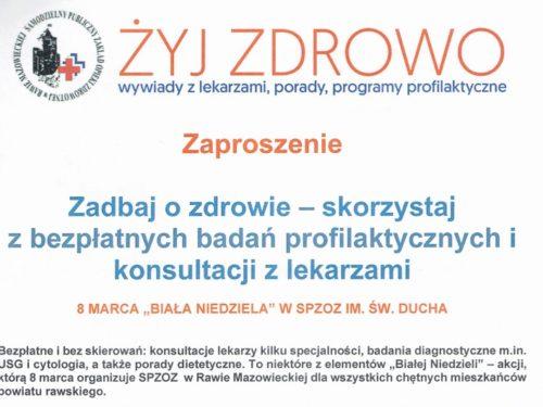 """8 marca """"Biała Niedziela"""" w szpitalu św. Ducha w Rawie"""