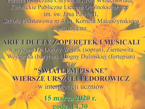 KONCERT ODWOŁANY: Zapraszamy na koncert: Arie i duety z operetek i musicali