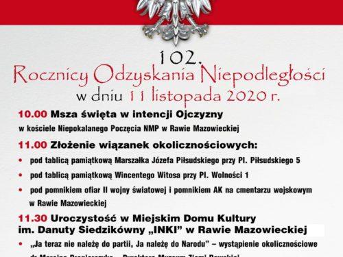 102. Rocznica Odzyskania Niepodległości