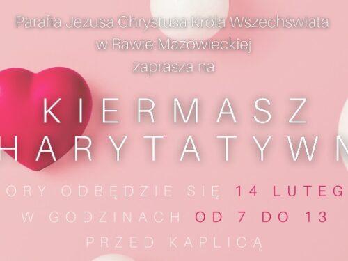 14 lutego zapraszamy na Kiermasz Charytatywny