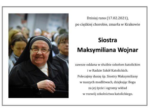 Modlimy się za duszę śp s. Maksymiliany Wojnar